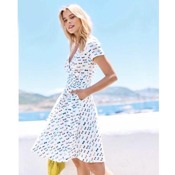 609a5caaf4e8 Boden Dresses & Skirts - Boden Lara wrap dress belted sunglasses print
